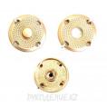 Кнопка пришивная металлическая MS K-88 23мм, M.Gold (Золотой матовый)