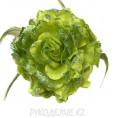Брошь Цветок пион d-120мм 14 - Зеленый