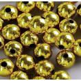 Бусины жемчуг пластиковые 12мм 01 - Золотой