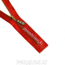 Молния разъемная металл декоративная атласная №4,5 (70см, Золото) Angelica Fashion