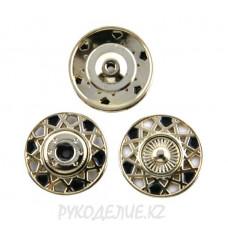Кнопка пришивная металлическая MS K-05