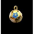 Бубенчик Шар гранёный 12мм 10 - Голубой