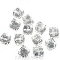 Бусины стекло граненое Кубик 6*6мм 79 - Кристалл