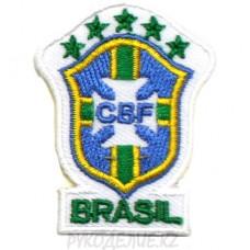"Шеврон клеевой ""CBF Brasil"" 3,5*4,5см"