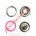 Кнопка установочная рубашечная металлическая (d-9мм, Розовый) 9мм, Розовый