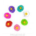 Заколка краб Цветок 06 - Цветной