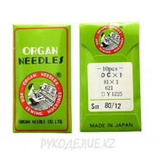 Иглы для промышленных швейных машин на оверлок DC-1 N80 Organ needles