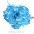 Брошь Цветок пион d-120мм 15 - Голубой