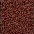Бисер непрозрачный матовый 10/0 Preciosa 13600 - Коричневый