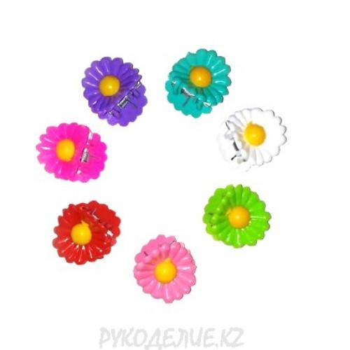 Заколка краб Цветок