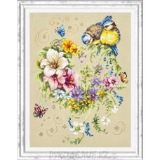 Набор для вышивания крестом Мелодия сердца 26*34см Чудесная игла