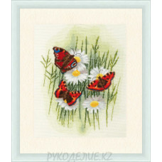 Набор для вышивания крестом Волшебные бабочки 24*30см Золотое Руно
