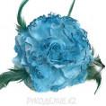 Брошь Цветок пион d-120мм 16 - Бирюзовый