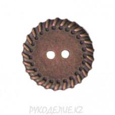 Пуговица металлическая MFB199 (32L, Медный)