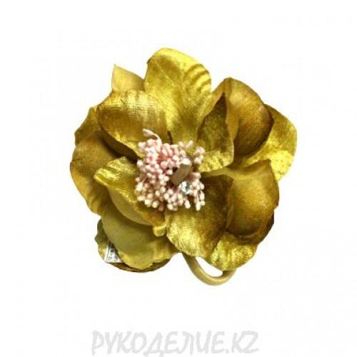 Брошь Цветы с резинкой d-80мм