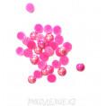 Кабошоны под жемчуг пластик 6мм (10гр) клеевые 19 - Фуксия АВ