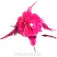 Брошь Цветок роза со стразами d-65мм 11 - Фуксия