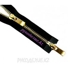 Молния металл N5 двухзамковая (100см, Золото глянец) YKK