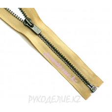 1-замковая Молния металл №3 YKK разъемная, темный никель матовый, 80 см