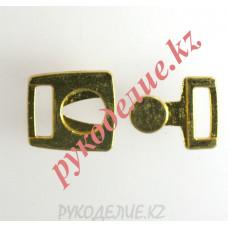Застежка для купальника металлическая (01, зол)