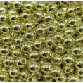 Бусины жемчуг пластиковые 6мм (10гр) 01 - Золотой