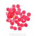 Кабошоны под жемчуг пластик 6мм (10гр) клеевые 15 - Красный АВ