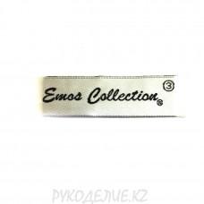 """Лейбл пришивной """"Emos collection"""" 7,1*1,9см"""