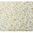 Бусины жемчуг пластиковые 4мм (10гр) 75 - Молочный АВ