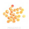 Кабошоны под жемчуг пластик 6мм (10гр) клеевые 23 - Оранжевый АВ