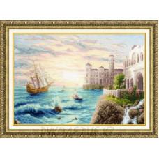 Набор для вышивания крестом Морской прибой 35*50см Золотое Руно