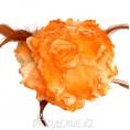 Брошь Цветок пион d-120мм 17 - Оранжевый
