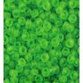 Бисер матовый прозрачный 10/0 Preciosa 50430 - Зелёный