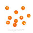 Бусины стекло граненое 8мм 23 - Оранжевый