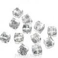 Бусины стекло граненое Кубик 4*4мм 79 - Кристалл