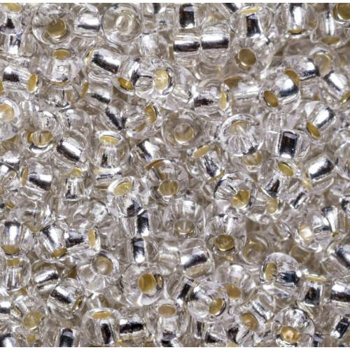 Бисер Silver отверстие квадратное 8/0 Preciosa