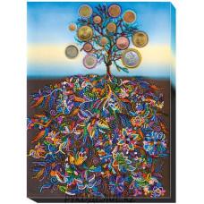 Картина вышитая Денежное дерево 31*42см АбрисАрт