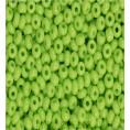 Бисер непрозрачный глянцевый 10/0 Preciosa 53410 - Светло-салатовый