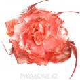 Брошь Цветок пион d-120мм 18 - Коралл