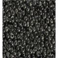 Бисер жемчужный прозрачный 10/0 Preciosa 46010 - Тёмно-серый