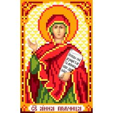 Рисунок на шелке Святая Анна пророчица 22*25см Матрёнин Посад