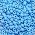 Бисер непрозрачный глянцевый 10/0 Preciosa 63020 - Голубой