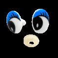 Глаз винтовой овал 16*22мм 1 - Синий