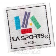 """Лейбл пришивной """"La-Sports"""" 4*4см"""