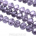 Бусины стекло граненое 6мм 21 - Фиолетовый