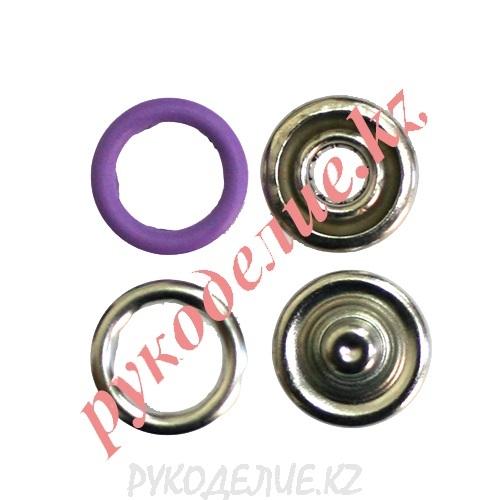 Кнопка установочная рубашечная металлическая (d-9мм, Сиреневый)