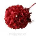 Брошь Цветок Гвоздика d-90мм 22 - Бордовый