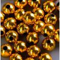 Бусины жемчуг пластиковые 6мм (10гр) 31 - Тёмно-золотой