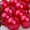 Бусины жемчуг пластиковые12мм 15, красн