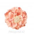 Брошь Цветок пион d=120мм 87 - Тёмно-персиковый