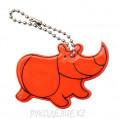 """Брелок светоотражающий """"Носорог"""" 43*60мм 91, люм оранж"""